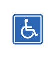 handicap signage wc invalid icon disable vector image vector image