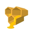 Honeycomb cartoon icon vector image vector image