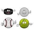 Ice hockey golf tennis and baseball items vector image vector image