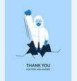 in flat style thank you vector image vector image