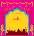 india travel attraction frame vector image