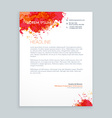 ink splash letterhead design vector image vector image