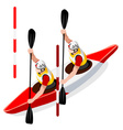 Kayak Slalom Doubles 2016 Sports Isometric 3D vector image vector image