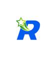letter r alphabetical logo design concepts vector image