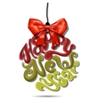 lettering christmas ball toy Great design vector image