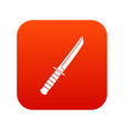 little knife icon digital red vector image vector image