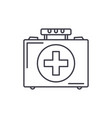 medical case line icon concept medical case vector image vector image