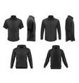 men clothes tshirt hoodie and shirts set vector image