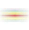 network spectral halftone array vector image vector image