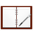 object business diary vector image vector image
