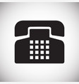 phone icons set on white background for graphic vector image