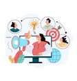 products promotion audience communication vector image