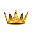 realistic golden crown crowning headdress vector image