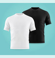 realistic or 3d white and black t-shirts for man vector image vector image