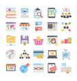 seo and digital marketing colored icons 5 vector image vector image