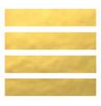 set golden foil bannerswebsite headers vector image