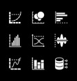 set icons graph and diagram vector image vector image