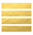 set of golden foil bannerswebsite headers vector image vector image