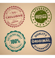 set old stamps quality control vector image