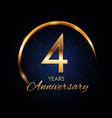 template logo 4 year anniversary vector image