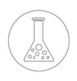 test tube icon design vector image