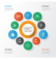 tourism icons set collection of bank card vector image vector image