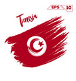 tunisia flag brush strokes painted vector image