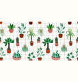 urban jungle seamless pattern with trendy vector image vector image