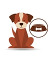 veterinary dog care bowl of dog food icon vector image vector image