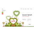 wedding arch for wedding ceremony template banner vector image vector image