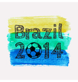 with watercolor ball dedicated to Brazil 201 vector image vector image