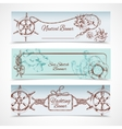 Yachting banners set vector image vector image