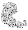 Zentangle jellyfish doodle Hand drawn vector image vector image