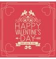 Valentines Day Border Vintage Poster Background vector image