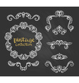 Vintage Ornamental Calligraphic Designs Set on the vector image