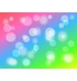Bokeh on multi-colored background vector image