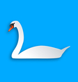 Swan on blue vector image