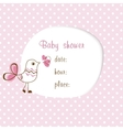 baby girl shower vector image