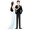 Bride and Groom wedding vector image