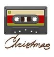 Audio cassette tape Film written Christmas vector image
