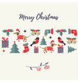 holiday background with different elements vector image