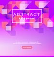 abstract geometric shape vivid neon color magenta vector image