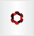 abstract icon red black business hexagon logo vector image vector image