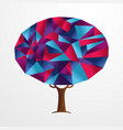 abstract shape tree concept in vibrant colors vector image vector image
