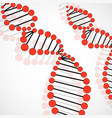 abstract spiral of dna molecular background vector image vector image