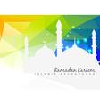 beautiful islamic background vector image vector image