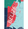 belize country detailed editable map vector image vector image