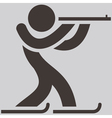 Biatlon icon vector image vector image