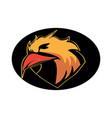 bird head mascot logo design vector image vector image
