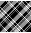 black white pixel fabric texture seamless pattern vector image vector image
